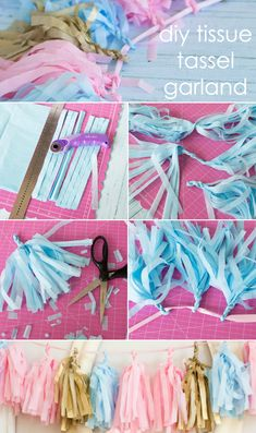 DIY Tissue Tassel Garland Tutorial - perfect for a party or nursery!
