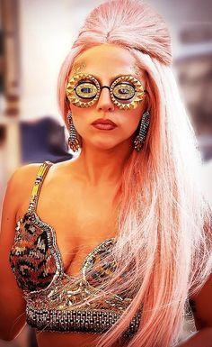 Gaga is mainly trash but check out those glasses.