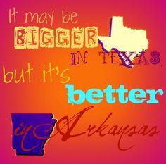 arkansas > texas arkansas-lovin