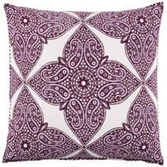 John Robshaw Bindi Kumera Brinjal Euro Decorative Pillow