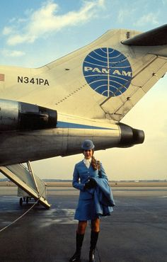 Stewardess Berlin Tempelhof, 1971.