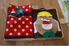 Homemade Mr Potato Head flannel board would be great as a quiet activity for worship bags.
