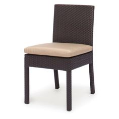 Caluco Maxime All-Weather Wicker Dining Side Chair