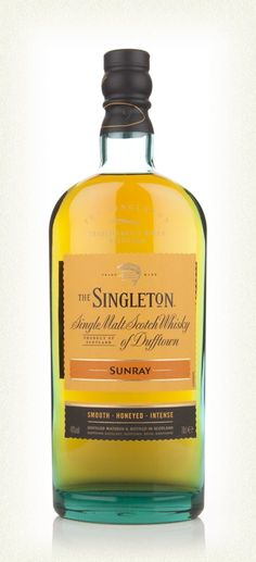 Singleton of Dufftown Sunray ......One of two no age statement single malt Scotch whiskies released in 2014 for the Singleton of Dufftown range (the other beingTailfire). Sunray takes its name from a type of fly used for salmon fishing, but there's nothing fishy about this yummy expression. Aged in American bourbon casks, it's the smooth brother to the vibrant Tailfire.