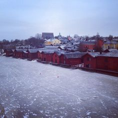 The famous red, old storage houses in Old Porvoo. www.visitporvoo.fi