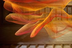 "The Smithsonian's 'Wonder' Exhibition Fills a Newly Renovated Gallery Floor-to-Ceiling with Artworks | Janet Echelman, ""1.8"" detail (2015)"