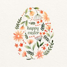Happy Easter Everyone, Happy Easter Day, Happy Easter Cards, Easter Paintings, Happy Paintings, Easter Art, Easter Crafts, Do It Yourself Ostern, Ostern Wallpaper