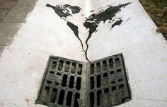 World going down the drain