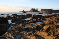 Five Rain Forest Hikes in Washington State - Olympic Coast Shoreline at Sunset