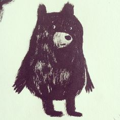 Little Bear Drawing // Chuck Groenink Art And Illustration, Character Illustration, Illustrations Posters, Bear Art, You Draw, Coraline, Illustrators, Drawings, Artwork