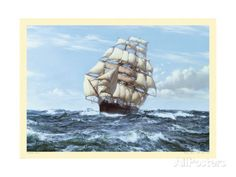 Racing Home, The Cutty Sark Giclee Print by Montague Dawson at AllPosters.com