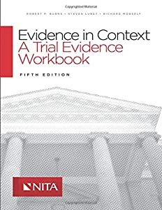 Download Pdf Evidence In Context A Trial Evidence Workbook Fifth Edition Nita In 2020 Workbook Audio Books Context