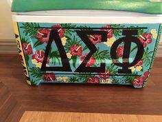 tropical Hawaiian shirt floral fraternity cooler delta sigma phi