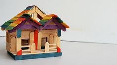 DIY Popsicle sticks House #7: Tutorial | Crafts ideas  Watch VDO: https://www.youtube.com/watch?v=Kv0u8EzE_AE