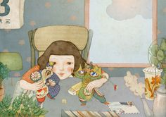 """children's book """"Cao Cao is falling!"""" by whooli chen, via Behance https://www.behance.net/gallery/11925221/childrens-book-Cao-Cao-is-falling"""