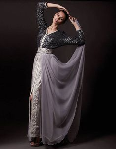 Caftan Wedding Party Dresses Grey Black Silver 3 rooms Modern Takchita