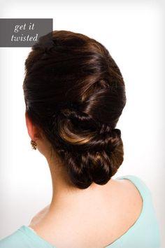 DIY Wedding Hair : DIY Romantic Twisted Chignon