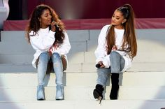"""In case you missed it, Ariana Grande released new song """"Monopoly"""" on Monday, a collaboration with her best friend Victoria Monét. Ariana Grande Opened Up About Her Sexuality And The Internet Is Basically In Meltdown Better Days Victoria Monet, Elissa, Conversation Starters For Couples, Ariana Grande Pictures, Hottest 100, Celebs, Celebrities, Manchester, Actors & Actresses"""