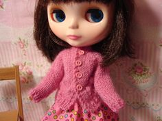 Pink Bauble Sweater and Socks for Pullip and Blythe