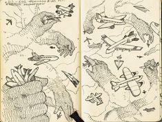 JOHN HENDRIX Sketch exploring flat graphic and informative drawing.