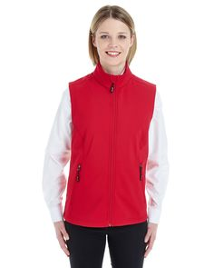 Ash City CE701W - Ladies' Cruise Two-Layer Fleece Bonded Soft Shell Vest #ashcity #fleecevest #womensvest