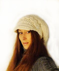 Items similar to Newsboy hat / Slouchy white winter hat on Etsy News Boy Hat, Slouchy Hat, Winter White, Small Gifts, Wool Blend, Glass Beads, Crochet Hats, Warm, Gift Ideas
