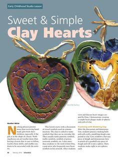 Simple Clay Projects   Found on schoolartsdigital.com
