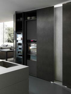 Modulnova  - Arredamenti Stadio Seregno - French Door Refrigerator, French Doors, Modern Interior, Kitchen Appliances, Bathroom, Home, Blade, Designers, Gardens