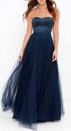 Dance of Dalliance Navy Blue Maxi Dress  with <3 from JDzigner www.jdzigner.com