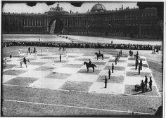 Живые шахматы. Санкт-Петербург, 1924 г.