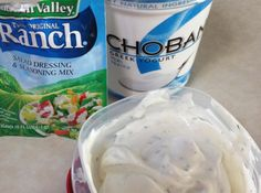 I can not eat pretzels,chips, veggies without dip! But dip can be SO fattening for such a small amount, and I don't eat a small amount. So I came up with a super fast super tasty ranch dip that you cant tell the difference! Only 2 ingredients and takes less than a minute to make. Don't be scared off by the greek yogurt if you have never tried it. The texture and taste resembles sour cream for double the serving and more than half the calories of sour cream. Plus all that good bacteria from…