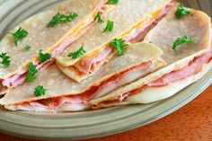 Sincronizados, authentic Mexican ham and cheese melts.  daringgourmet.com