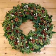 Juniper Pine Cone Wreath