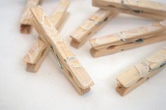 lace clothespins - rustic wedding accessories - rustic wedding decorations - bridal shower decorations - baby shower decorations. $6.00, via Etsy.