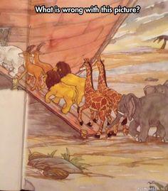 Eläimet matkalla Nooan Arkkiin