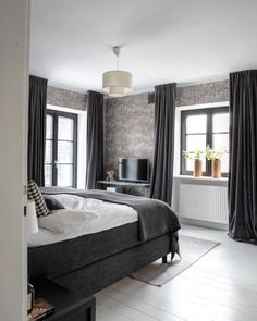 20 tips will help you improve the environment in your bedroom Bedroom makeover Here you can see how the transformation of our bedroom took place. Swipe to the last one and. Bedroom Pics, Bedroom Pictures, Cozy Room, Bedding, Sweet Home, Environment, Room Decor, Curtains, Decoration