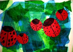 Ladybugs - make with circle puncher, and tissue paper. Great window art.