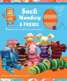 Sock Monkey and Friends Kit (9 sock animal projects)