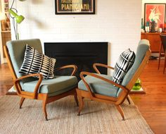 Wrightbilt PAIR of Atomic TV arm chairs by TriBecasVintage on Etsy, $110.00