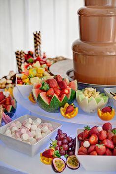 Tropical Hawaiian Themed Dessert Buffet Kids Parties