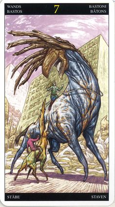 Seven of Wands ~ Universal Fantasy deck