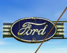 A fine art photo of a vintage Ford Service sign.