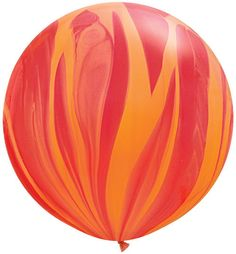 3 Foot Round Retro Marbled Balloon w/Tassel great for Fireman party, Etsy : Bonfortune shop