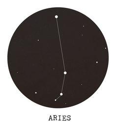 Aries Star Constellation Art Print by Clarissa Di Nicola - X-Small Aries Star Constellation, Star Constellations, Constellation Tattoos, Aries Astrology, Aries Horoscope, Aries Zodiac, Sternkonstellation Tattoo, Tattoo Estrela, Arte Aries