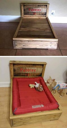 Modernize your home with the applicable modern woodworking project ideas. The modern woodworking project ideas make your home look trendy and up to date. Pallet Bed Frames, Pallet Dog Beds, Pallet Wall Decor, Pallet Boxes, Pallet Storage, Diy Kids Furniture, Furniture Projects, Pallet Projects, Woodworking Projects