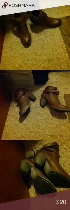 Boots Ankle boots never worn brown padded insoles cute bucco Shoes Ankle Boots & Booties