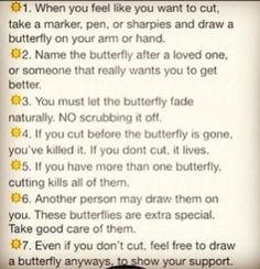 The Butterfly Project, I do not cut but I want to do this to help support others who do!