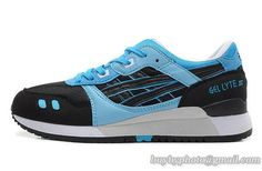 Men's Asics Gel Lyte III Sneaker Black Blue|only US$95.00 - follow me to pick up couopons.
