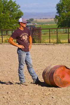 Let's make a deal, future roper-husband of mine. If you set the barrels when I run barrels, I'll run the chutes when you rope.