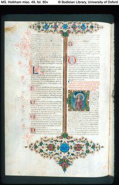 Illuminated Manuscript Boccaccio, Decameron, in Italian Italy, Ferrara; c. 1467 illuminated by Taddeo Crivelli for Teofilo Calcagnini  972×1,500 pixels
